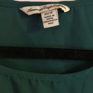 American Eagle Outfitters Tops - American Eagle turquoise top
